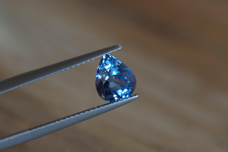 Saphir bleu naturel de Ceylan (Sri Lanka). 1,94 carats